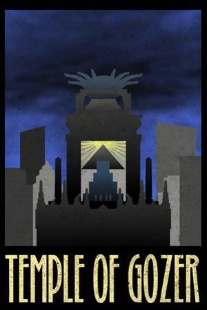 Temple of Gozer Retro Travel Poster
