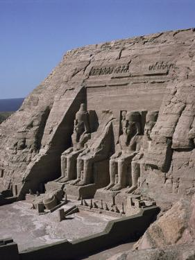 Temple of Re-Herakte Built for Ramses II, Abu Simbel, Unesco World Heritage Site, Nubia, Egypt by G Richardson