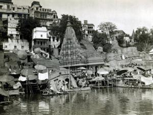 Temples on the River Ganges at Banares (Now Known as Varanasi), India, August 1911