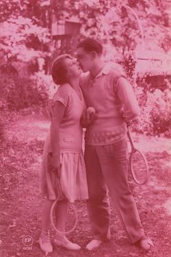 Tennis Players Kissing