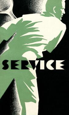 Tennis Service Poster