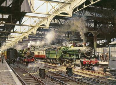 Albert Hall, Snow Hill Station by Terence Cuneo