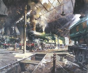 Castles at Tysley by Terence Cuneo