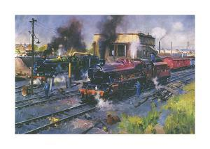 Express Engines by Terence Cuneo