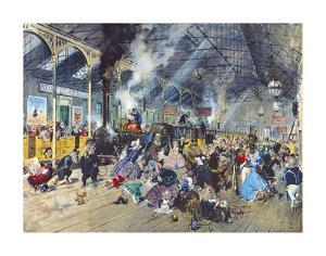 Stilton Junction by Terence Cuneo