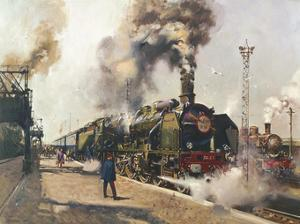 The Golden Arrow (La Fleche d'Or) by Terence Cuneo