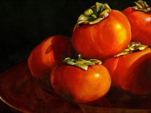 Five Persimmons by Terri Hill