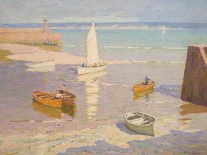 Low Tide, St Ives, Cornwall, C.1934 by Terrick Williams
