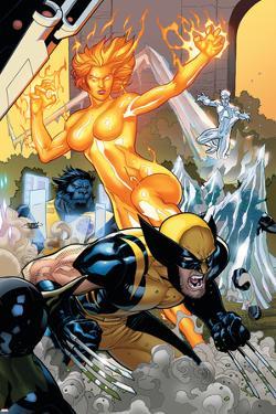 Secret Invasion: X-Men No.4 Cover: Wolverine and Phoenix by Terry Dodson