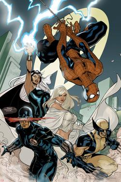 X-Men No.7 Cover: Spider-Man, Cyclops, Wolverine, Storm, and Emma Frost by Terry Dodson