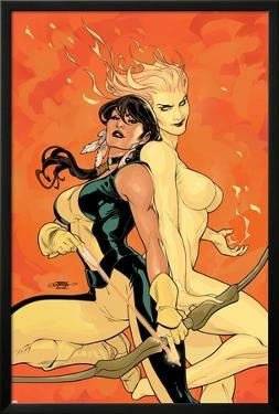Young X-Men No.2 Cover: Magma and Moonstar by Terry Dodson