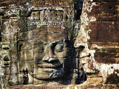 Asia, Cambodia, Angkor Watt, Siem Reap, Faces of the Bayon Temple by Terry Eggers