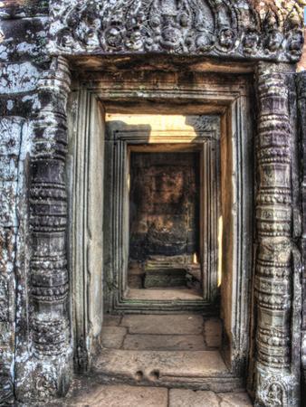 Cambodia, Angkor Watt, Siem Reap, Faces of the Bayon Temple