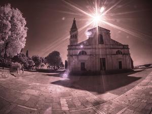 Croatia, Rovinj. The Church of St. Euphemia with morning sun streaming through by Terry Eggers