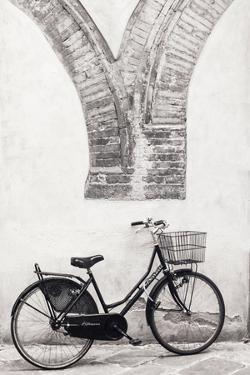 Italy, Lucca. Infrared image of bicycle parked along the street by Terry Eggers