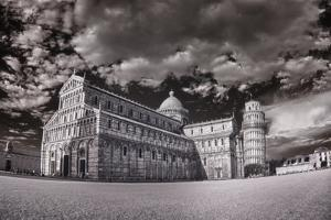 Italy, Pisa. Infrared image of the Campo dei Miracoli (field of miracles) by Terry Eggers
