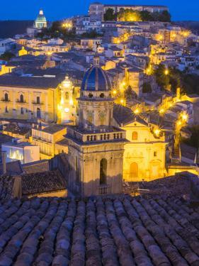 Italy, Sicily, Ragusa. Santa Maria delli'Idria in the foreground by Terry Eggers
