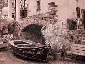Italy, Vernazza. Infrared image of the small fishing boat. by Terry Eggers