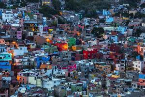 Mexico, Guanajuato, Night Lighting of the city of Guanajuato by Terry Eggers