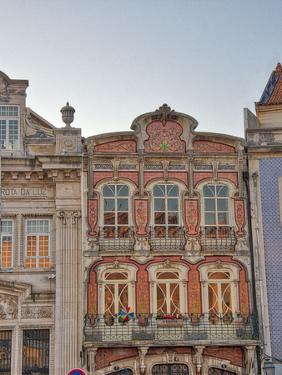 Portugal, Aveiro. Colorful building in the town by Terry Eggers