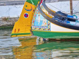 Portugal, Aveiro. Moliceiro boats along the main canal of Aveiro by Terry Eggers