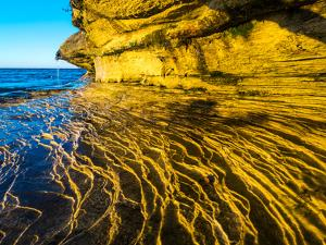 Rock formations at Pictured Rocks National Lakeshore on Upper Peninsula, Michigan by Terry Eggers