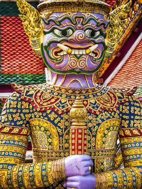Thailand, Bangkok, Yaksha at Wat Phra Kaeo The Grand Palace by Terry Eggers