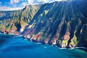 USA, Hawaii, Kauai, Aerial of the Coastline by Terry Eggers