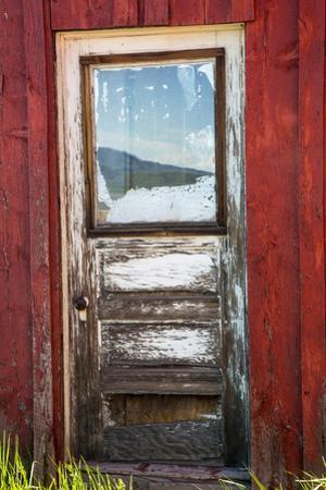 USA, Idaho, Fairfield, Front Door on Old Country Store by Terry Eggers