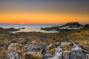 Lindos Sunrise by Terry Mathews