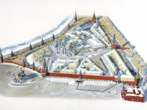 Diagram of the Kremlin by Terry Rutledge