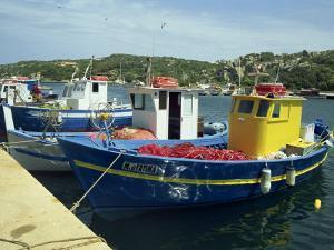 Fishing Boats in Port at Santa Teresa Di Gallura on the Island of Sardinia, Italy, Mediterranean by Terry Sheila