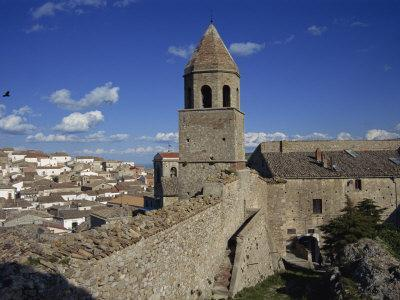 Rooftops of Town from the Castle, Bovino, Puglia, Italy, Europe