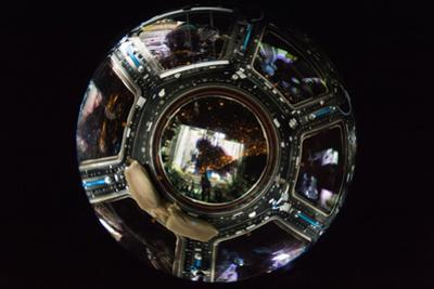 A Fish Eye View of All Seven Cupola Windows on the Iss by Terry Virts