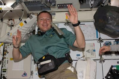Astronaut Adapts to Weightlessness on His First Day in the Iss by Terry Virts
