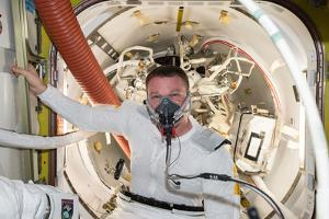 Astronaut Prepares for a Spacewalk with Breathing Exercises by Terry Virts