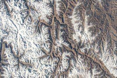 Iss View of the Snow-Capped Karakoram Mountain Range, Including Huang Guan Shan by Terry Virts