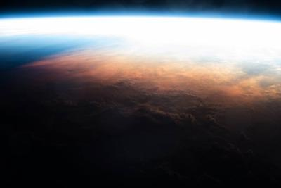 Iss View of the Sunrise over Australia by Terry Virts