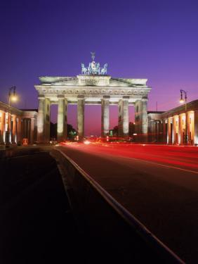 Brandenburg Gate at Night, Berlin, Germany by Terry Why
