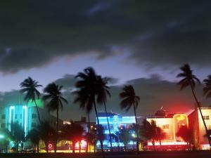 View of South Beach at Night, Miami, FL by Terry Why