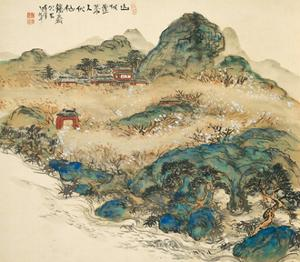 Mount Penglai (Mountain of Immortal), 1924 by Tessai Tomioka