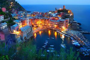 Cinque Terre, Vernazza at the Blue Hour by TessarTheTegu