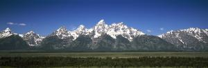 Teton Point Turnout, Teton Range, Grand Teton National Park, Wyoming, USA