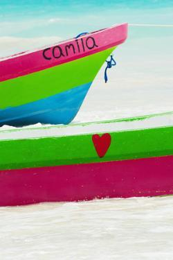 Mexico, Yucatan, Colorful Boats on Beach by Tetra Images