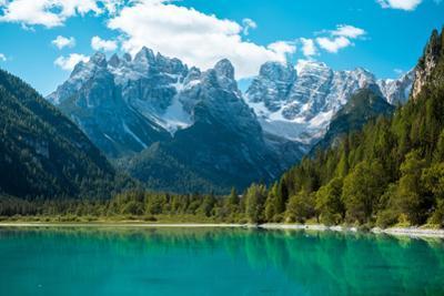 Beautiful Mountain Lake in Dolomites by Tetyana Kochneva