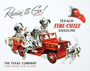 Texaco Gasoline Rarin To Go Fire Chief