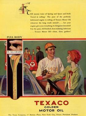 Texaco, Magazine Advertisement, USA, 1926