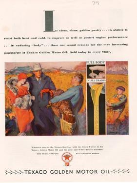 Texaco, Magazine Advertisement, USA, 1928