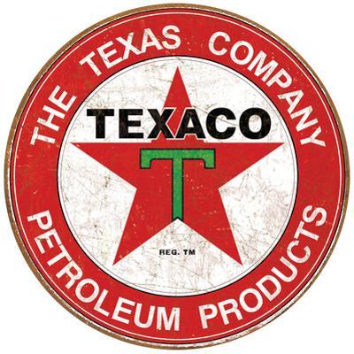 Texaco Motor Oil Weathered Tin Sign