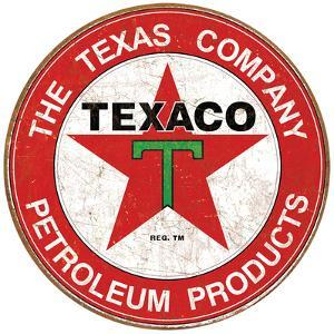Texaco Motor Oil Weathered Tin Sign